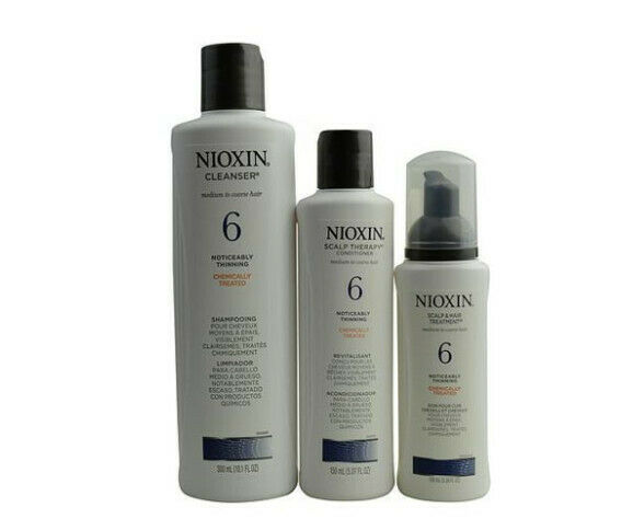 Nioxin 17966146 By Nioxin Set-3 Piece Maintenance Kit System 6 With Cleanser