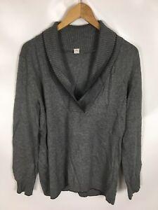 S-OLIVER-Pullover-grau-Groesse-46-Baumwolle