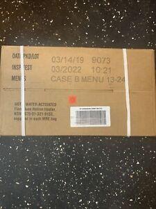 1 Military USGI MRE Case B Menu 13-24 Insp Date 2022