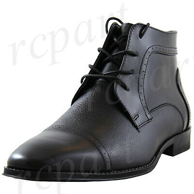 New men/'s shoes dress formal prom fashion wedding prom lace up boots black