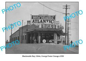 OLD-6-x-4-PHOTO-GLEBE-NSW-GEORGE-FOSTER-GARAGE-ATLANTIC-OIL-PURR-PULL-c1930