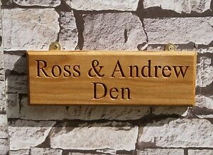 Solid wood Oak,Porch Personalised Wooden House Name Plaque//Signs Conservatory