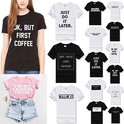 16 Style Summer Women Short Sleeve Tee Blouse Crop Top Beach T-Shirt S-XXXL