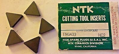10 NTK CERAMIC TURNING INSERTS #SNG434 C=0.2 HC2 NEW