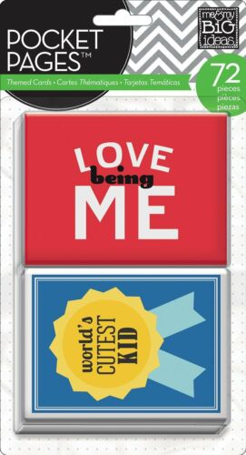 me /& my BIG ideas Pocket Pages Journaling Themed Cards 72 pieces a seal packet