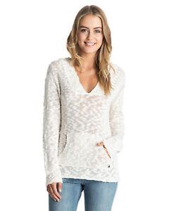 NEW-ROXY-Womens-Warm-Heart-Knit-Hoodie-Womens-Sweater