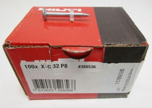 "Hilti Fastener X-C 32 P8 1-1//4/"" Box of 100"