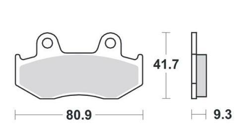 02-06 Pastillas de freno sinterizadas delanteras Honda SES 150 Dylan