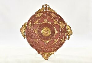 Antique-Chinese-Red-Gilt-Wood-Panel-the-Eight-Trigrams-Yin-Yang-Tai-Chi-Bagua