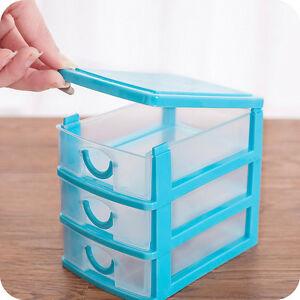 2-3-Drawers-Home-Organizer-Desktop-Cabinets-Storage-Box-Case-Jewelry-Holder-Bins