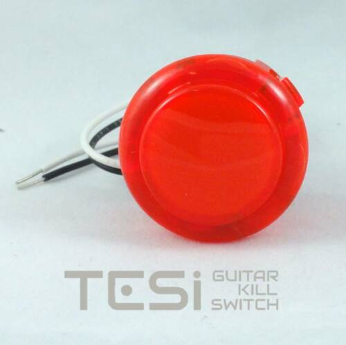 Tesi DITO XL Snap In 30MM Arcade Button Guitar Kill Switch - Translucent Red