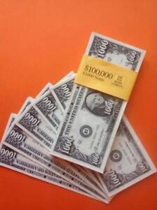 Image Is Loading 100 X 1 000 Novelty Dollars Fake Usa