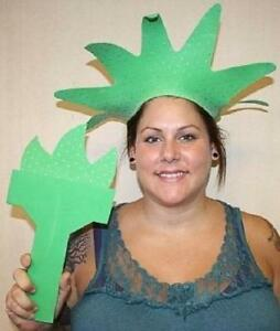 Green Statue of Liberty Torch and Tiara