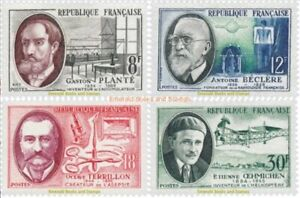EBS-France-1957-Inventors-amp-Scientists-Savants-et-Inventeurs-YT1095-1098-MNH