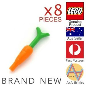 8x-Genuine-LEGO-Food-Carrots-Use-for-your-MOCs