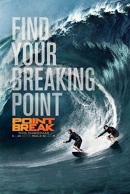 POINT BREAK 2015 Advance Version B DS 2 Sided 27x40 Movie Poster Luke Bracey