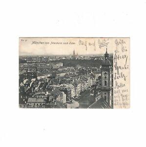 AK-Ansichtskarte-Muenchen-vom-Petersturm-nach-Osten