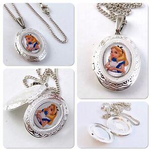Alice in wonderland Alice necklace oval LOCKET