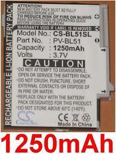 Batterie 1250mAh Für T-MOBILE 2009, PV300, Sidekick LX art PV-BL51