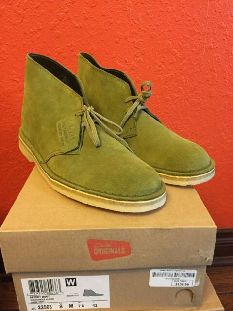 Clarks Mens Multiple Sizes Originals Desert Boots Evergreen Suede