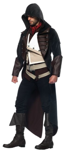 Assassins Creed Arno 7 Piece Adult Costume Men S Hood Halloween Leg Avenue For Sale Online