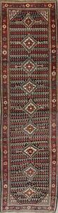 Antique-Geometric-12-ft-LONG-Runner-Sultanabad-Boteh-Wool-Rug-Handmade-3-039-x-12-039