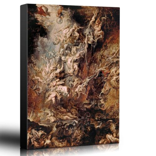 """Oil Painting of /""""Fall Of The Rebel Angels/"""" Wall26 Canvas Art 12x18 inches"""