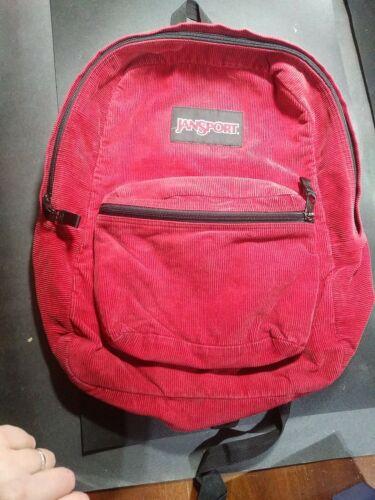 Full size VINTAGE Jansport Red Corduroy Backpack