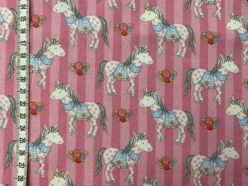 Prinzessin Annelie Baumwollstoff Steinbeck Pferde und Streifen