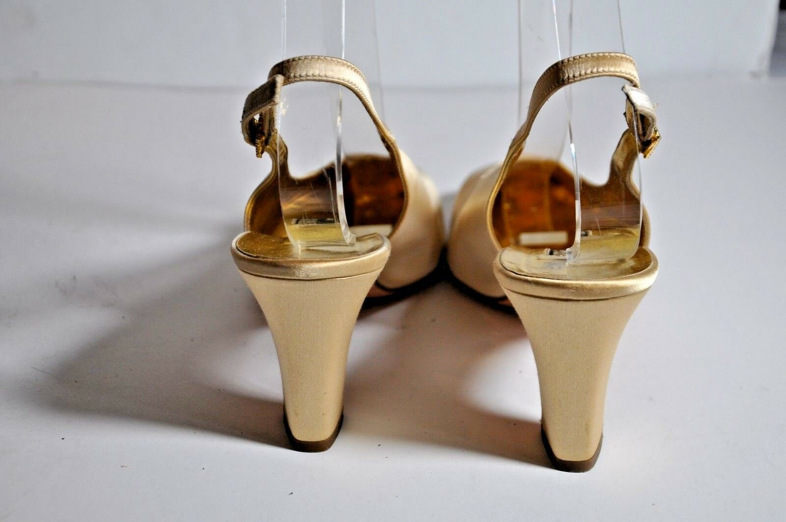 Bruno Magli gold gold gold Satin Slingback Sandals Size 9B 77eabe
