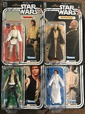 "Star Wars ""IN HAND"" Black Series 40th Anniversary Luke, Han, Leia, Obi-Wan 6inch"