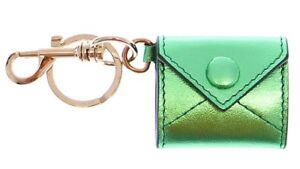 Dolce /& Gabbana Green Leather Metal Ring Keychain