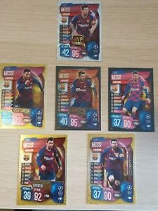 Match-Attax-19-20-2019-20-lot-of-6-Lionel-Messi-cards-inc-BRONZE-LE5B-MINT