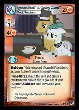 MY LITTLE PONY CCG MLP MARKS IN TIME :Igneous Rock & Cloudy Quartz 19R X 3