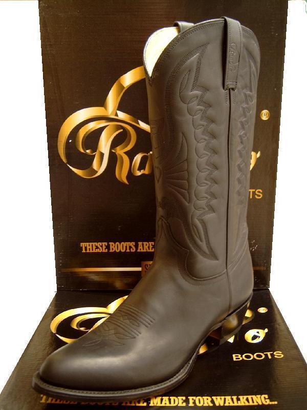 Cowboy Stiefel v.Rancho Modell 2058 auch als Arbeits- Reitstiefel, schwarz 36