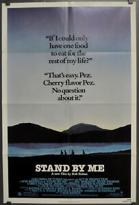 Details About Stand By Me 1987 Original Movie Poster 27x41 Pez Wil Wheaton River Phoenix