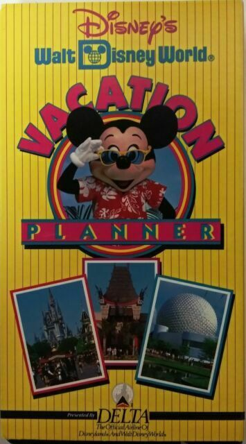 In Shrinkwrap Walt Disney World Vacation Planner Vhs Delta Airlines 1993 For Sale Online Ebay
