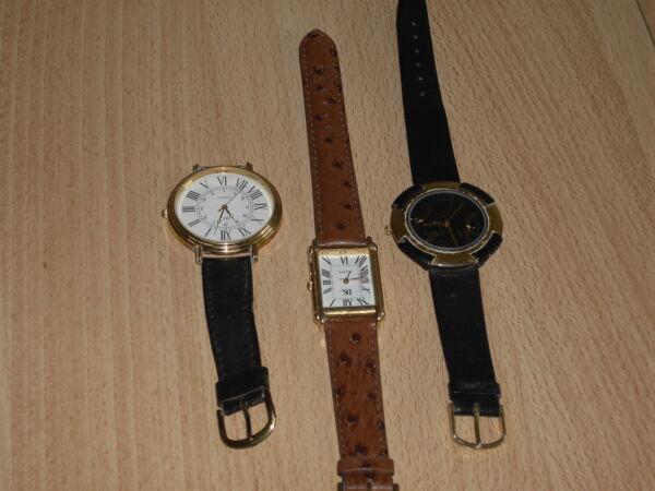 3verschiedene Uhren Aus Haushaltsauflöung Siehe Fotos! Ausreichende Versorgung