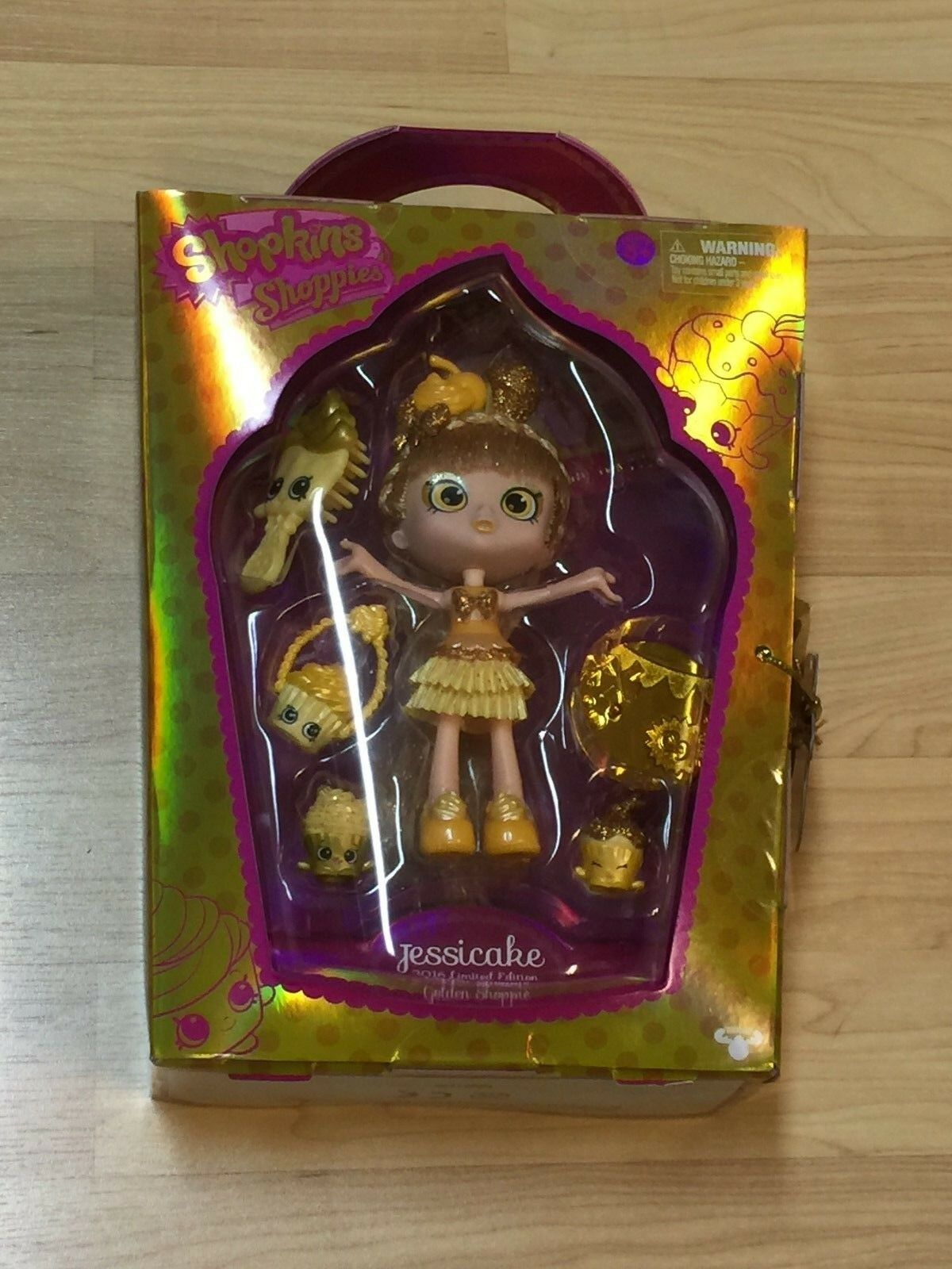 SDCC 2016 Comic Con EXCLUSIVE Shopkins Jessicake gold LE FREE PRIORITY SHIP