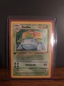 1st Edition Bisaflor German Venasaur Holo Rare Pokemon Card 15/102 PSA Ready