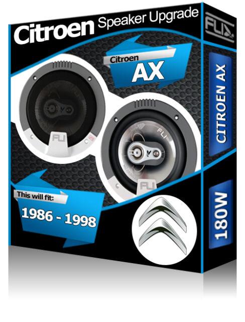 """Citroen AX Front Door speakers Fli 5.25"""" 13cm car speaker kit 180W"""