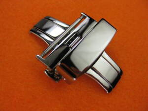 New-18mm-DEPLOYMENT-CLASP-BUCKLE-Swiss-316L-Stainless-Polish-Finish-18