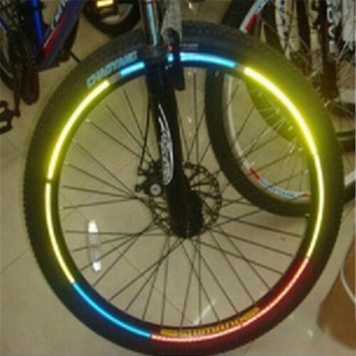Bicycle Reflective Stickers Cycling Wheel 20.5*0.8cm Light Creative Rim Stickers