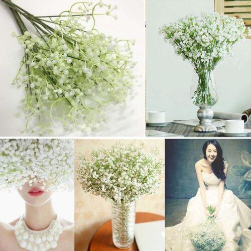 1//20pcs Fake Silk Gypsophila Baby/'s Breath Flower Artificial Wedding Home Decor