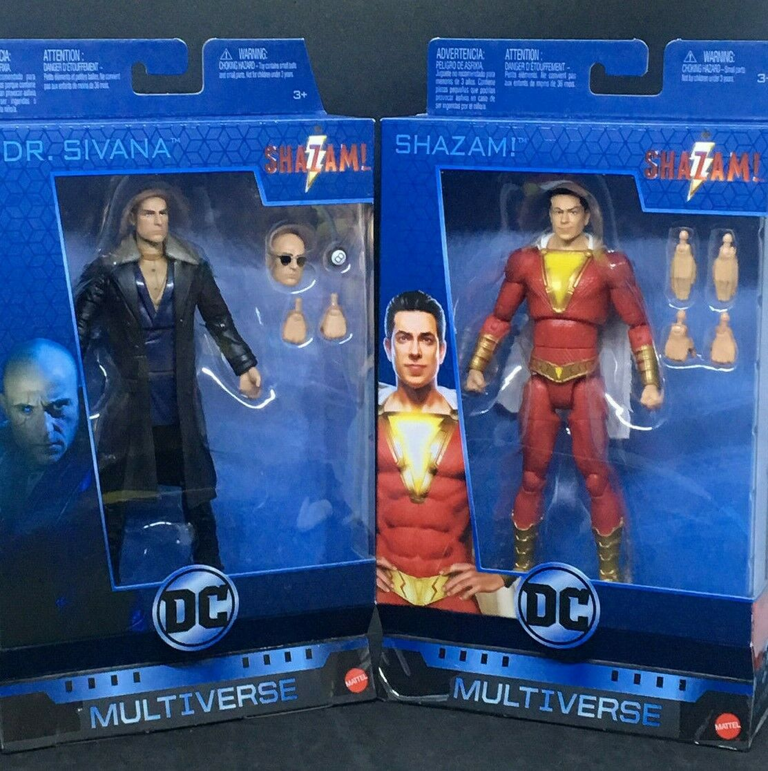 DC Multiverse 6  Shazam Movie - Shazam & Doctor Sivana Wirkung Figure Pair