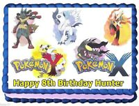 Pokemon X And Y Edible Cake Topper Birthday Decorations