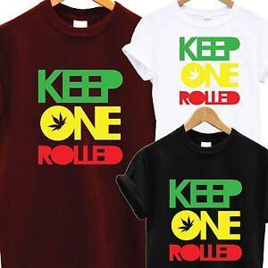 KEEP-ONE-ROLLED-T-SHIRT-TEE-TOP-RASTA-GANJA-WEED-FASHION-DOPE-SMOKE-DRAKE-YMCMB
