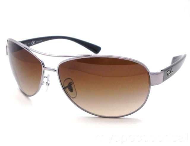 bc764a3413 Ray Ban RB 3386 004 13 Gunmetal Brown Gradient New Authentic Sunglasses