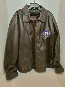 US-NAVY-Mens-4X-Soft-Touch-Leather-Jacket-Coat-Full-Zipper-Faux-Fur-Pile-Liner