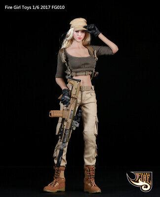 Female Gunner Combat Costume 1//6 Tactical Shirt Pants Belt FG010 Fire Girl Toys